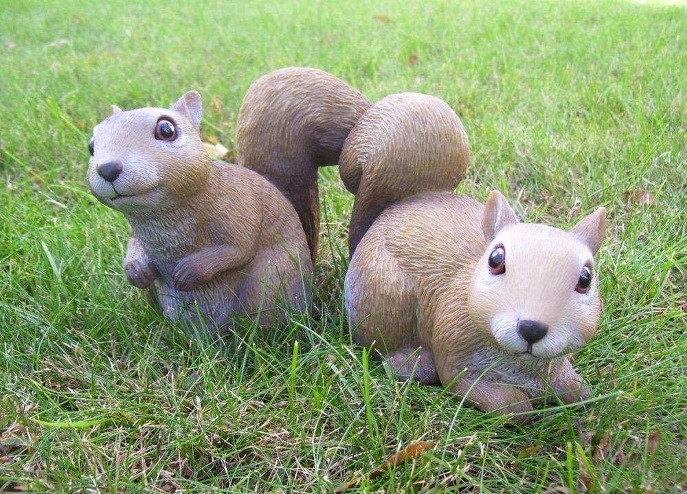 Squirrel Babies Garden Animal Statues Lawn Yard Decor 2 ...
