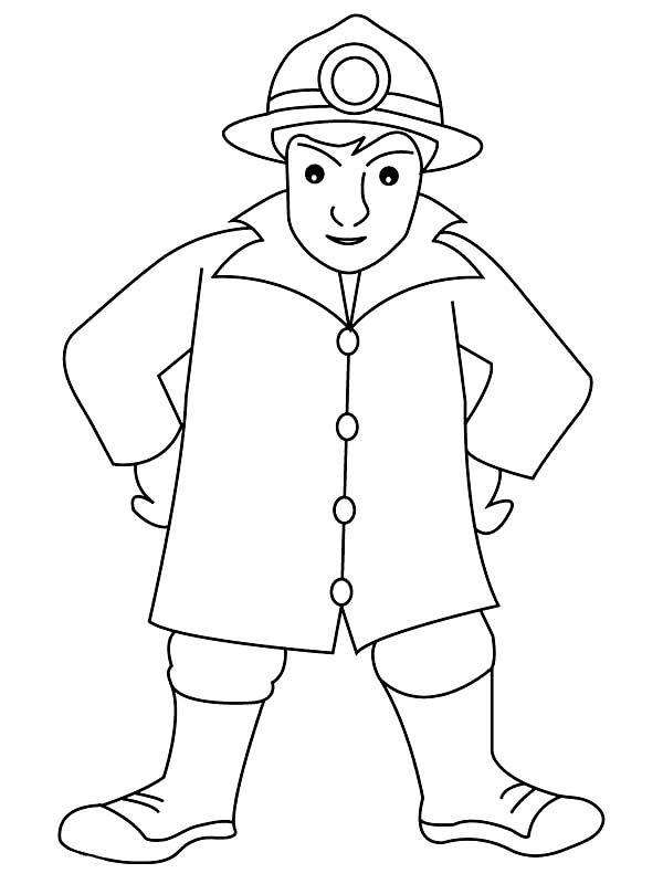Kids Drawing Of Fireman Coloring Page : Kids Play Color ...