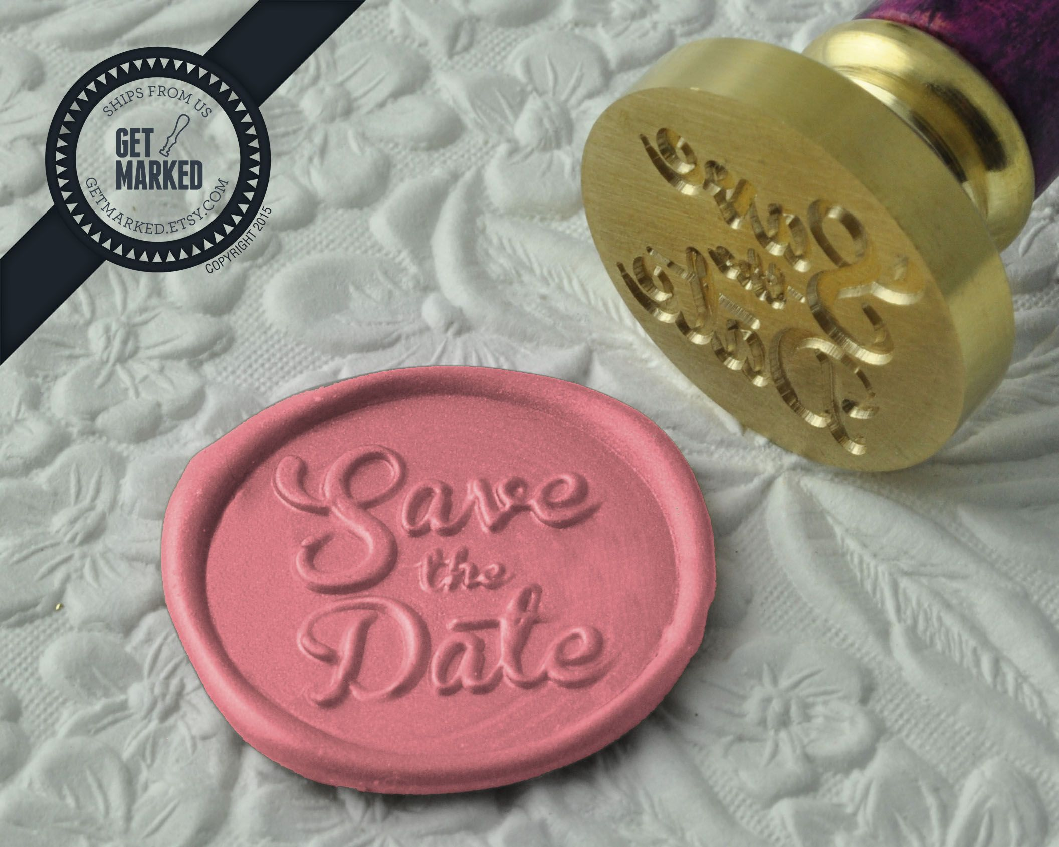 Save the Date - Wax Seal Stamp by Get Marked - Wedding Collection ...