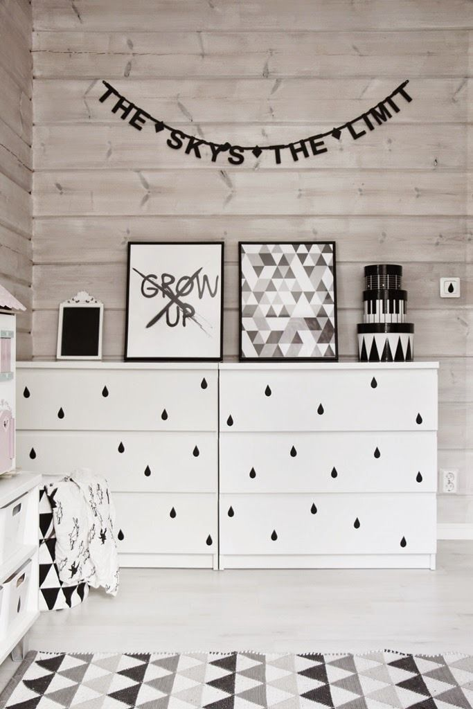 A Large Sideboard Made Of Several Malm Dressers With Black Handles And A Single Ikea Malm Dresser Ikea Malm Hack Dresser Design