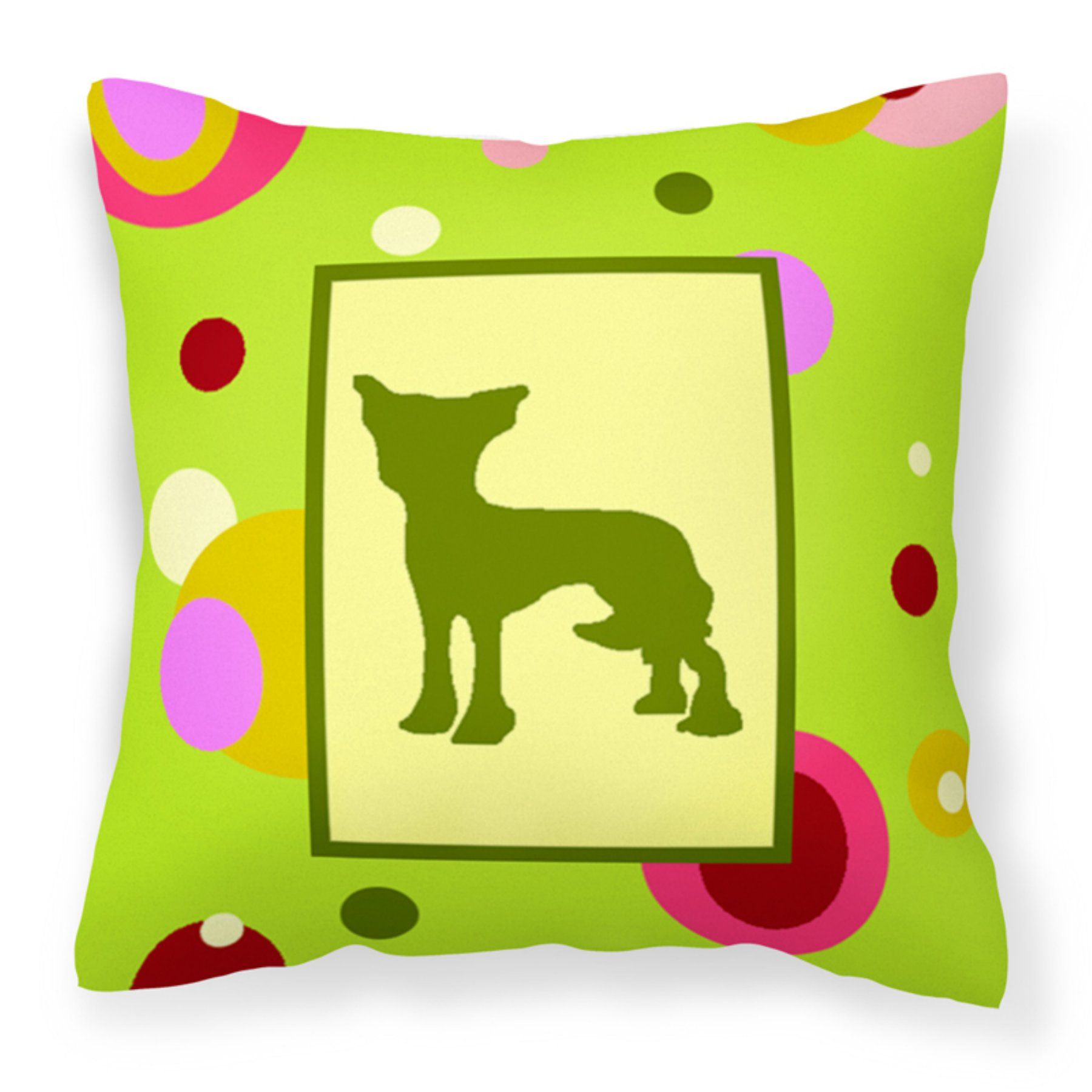 Carolines Treasures Chinese Crested Dog Canvas Fabric Decorative Pillow - CK1099PW1414