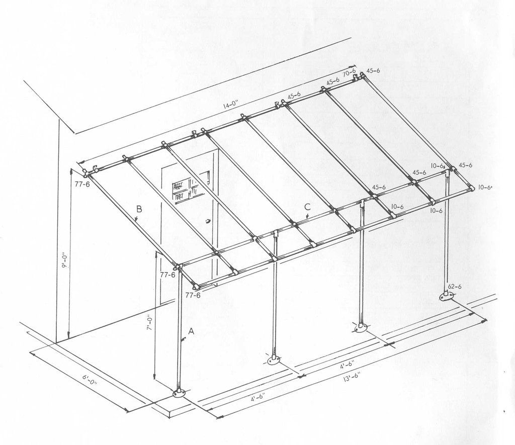 Simplifiedbuilding Build A Simple Awning Frame With Kee Klamp Fittings