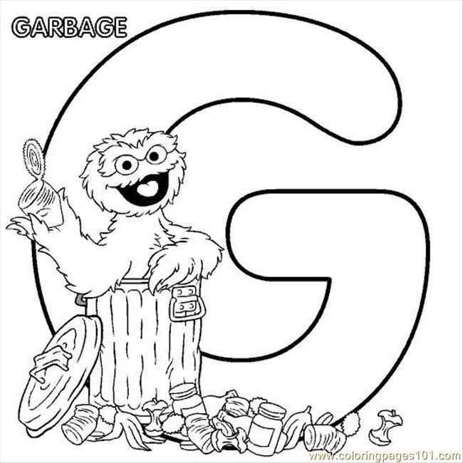 free sesame street printables free printable coloring page sesamestreet coloring g oscar cartoons - Free Sesame Street Coloring Pages