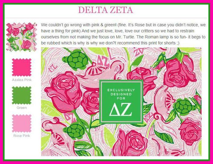 a99a8bfec104cc Lilly Pulitzer Delta Zeta | Lilly goes Greek | Delta zeta, Sorority ...