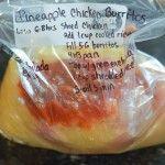 Crockpot Pineapple Salsa Chicken Burritos #shreddedchickentacos