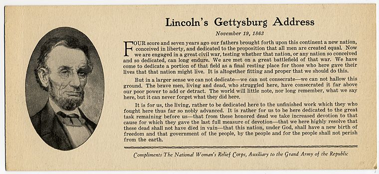 The Gettysburg Address The Lincoln Financial Foundation