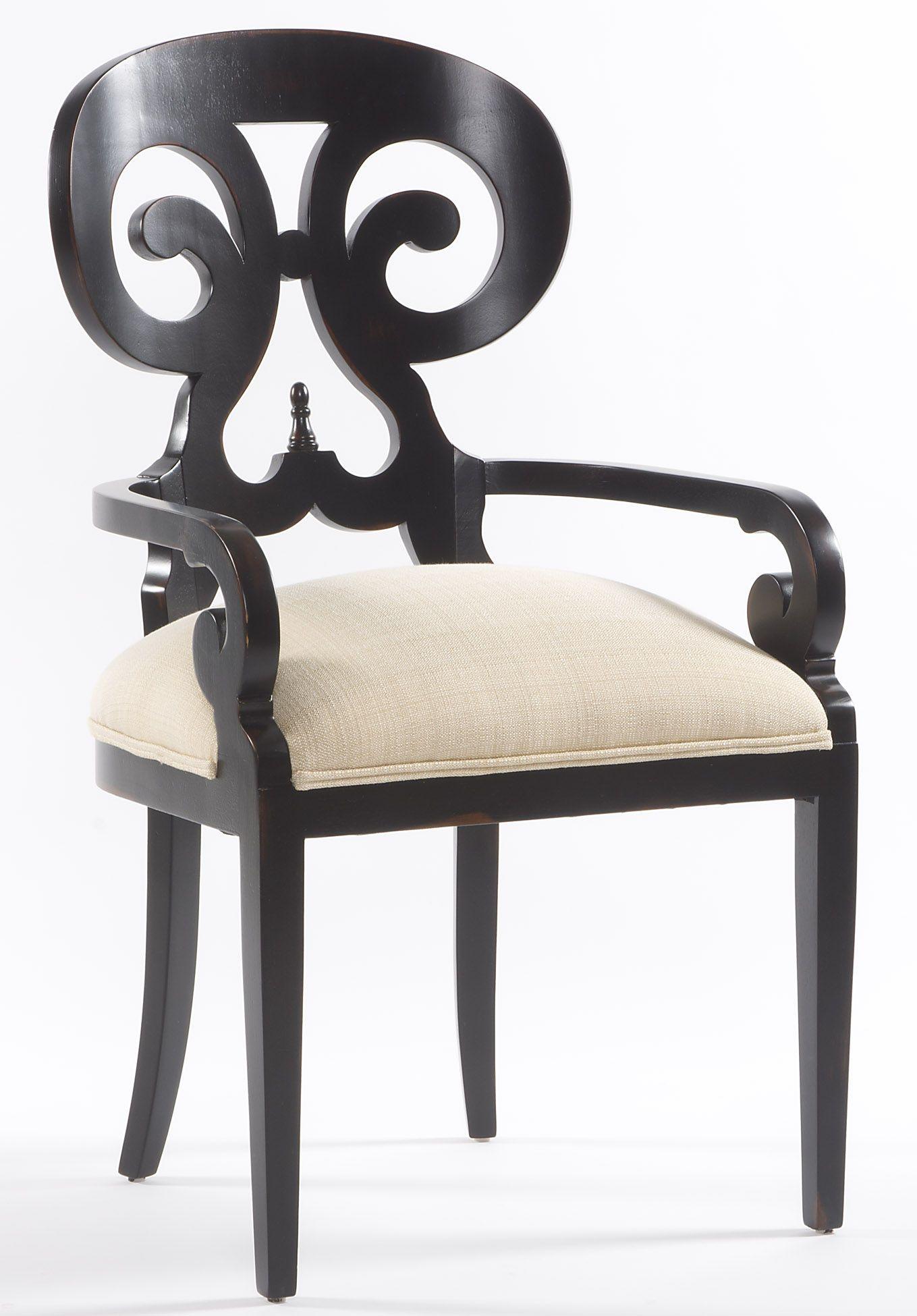 Vanguard Dining Room Ali Arm Chair V1257A   Vanguard Furniture   Conover, NC