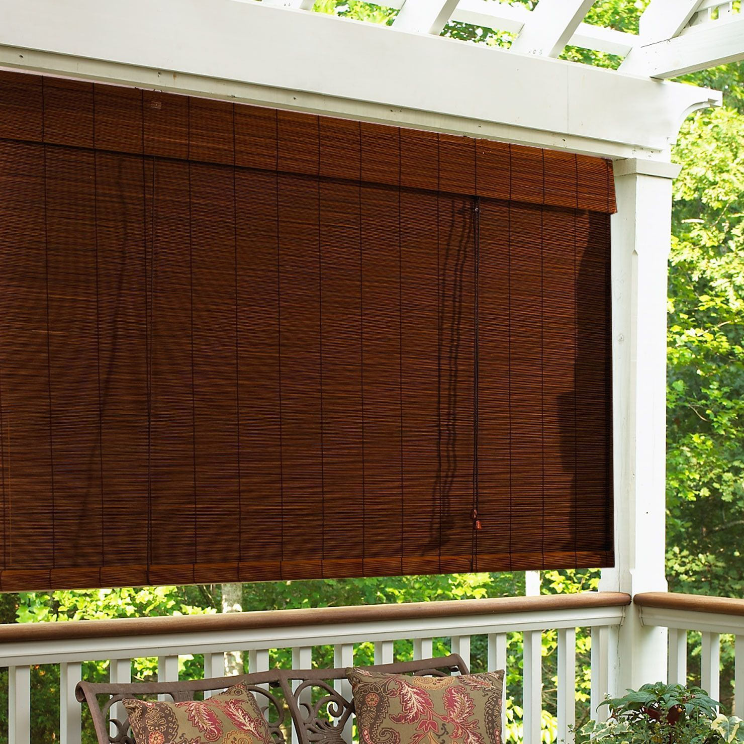 Imperial Matchstick Bamboo Blind Whiteblinds Verticalblindsart Outdoor Blinds Patio Blinds Blinds Design