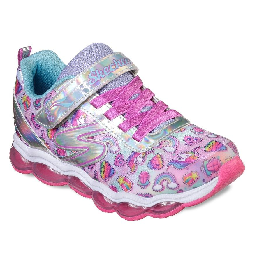 Girls' S Lights Shimmer Beams Black & Multicolored Light Up Shoes