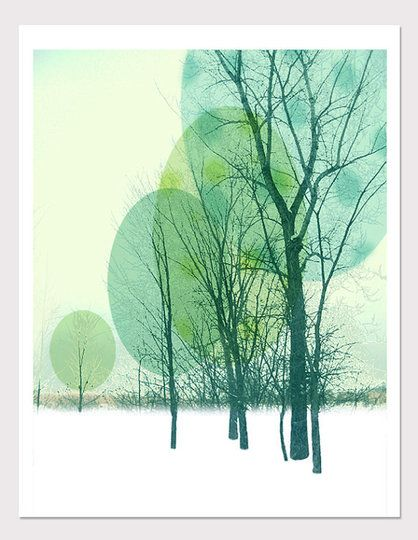 High Quality Green and Silver Art Print Environmental abstract design limited edition art print unique premium art gift