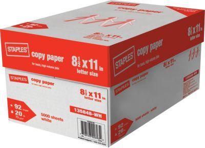 Tru Red Copy Paper 8 1 2 X 11 Case At Staples Copy Paper Letter Paper Paper