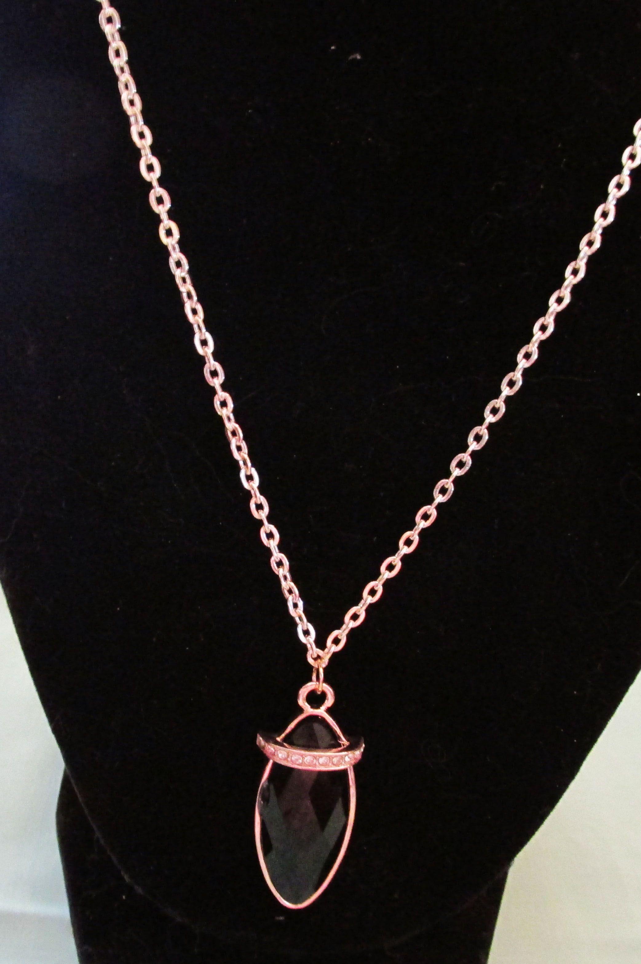 Rosegold captured quiltfinished pendant at alllisandra