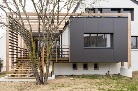 maison, extension, bois, bretagne, maéma architectes