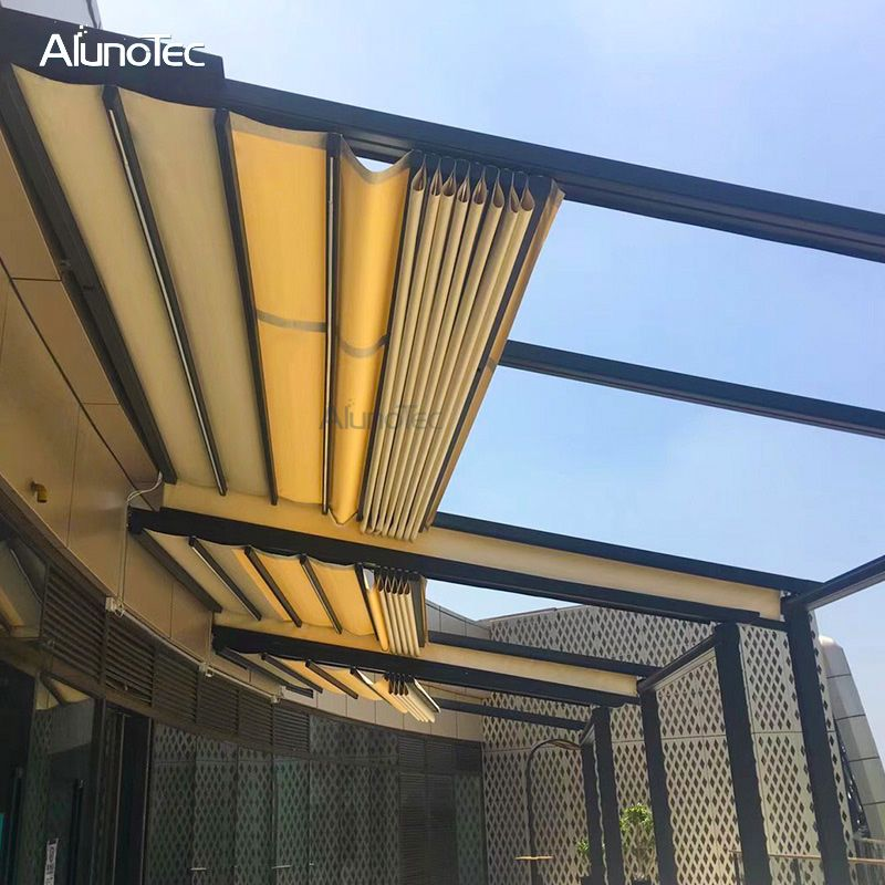 Modern Retractable Gazebo Prefab Awning With Side Sun Screen Buy Prefab Awning Retractable Prefab Awning Wat In 2020 Waterproof Gazebo Retractable Roof Gazebo Roof