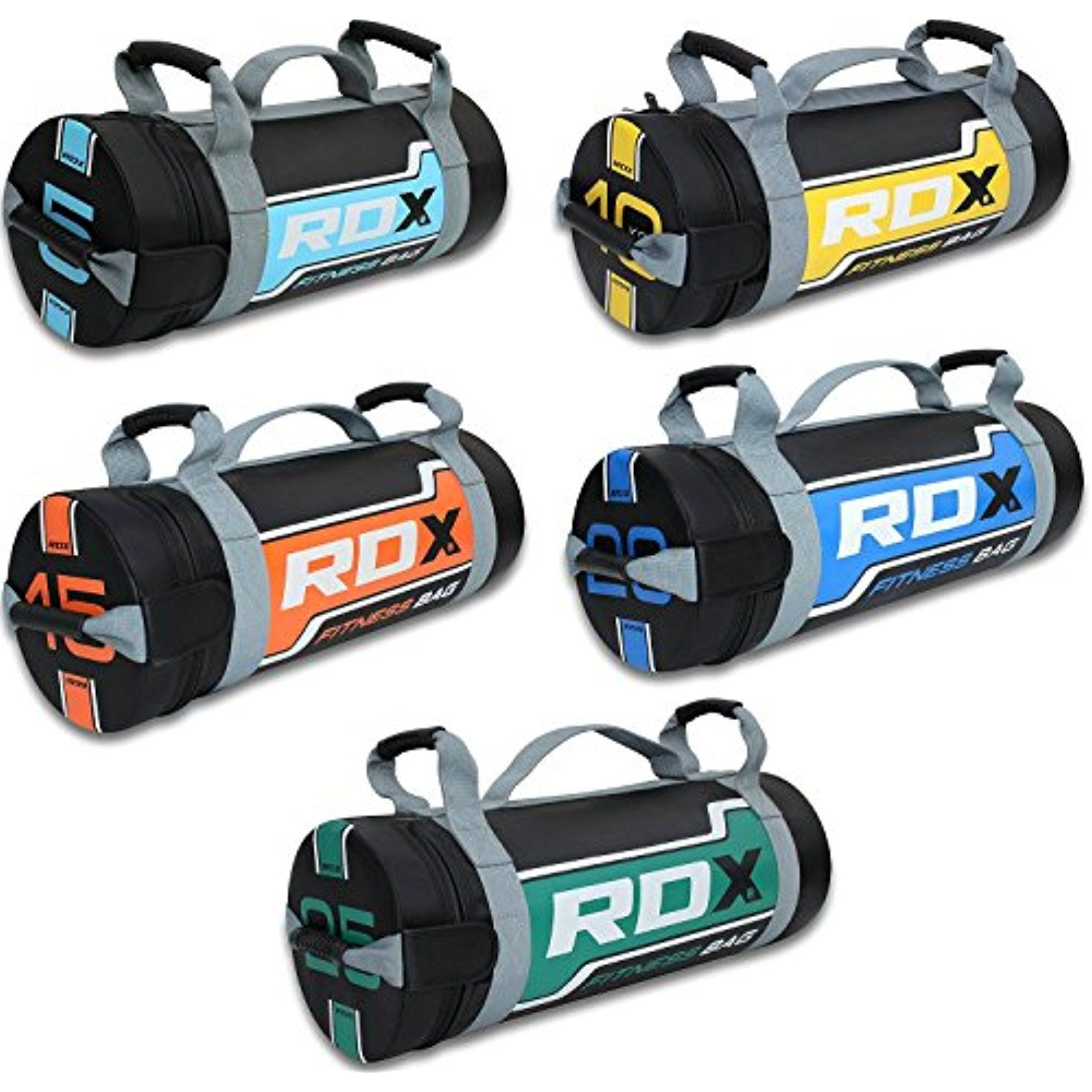 Exercise Weight Adjustable Fitness Powerbag for Weight Lifting Powerlifting and Functional Workout RDX Sandbag Weight Training Power Bag with Handles /& Zipper Running
