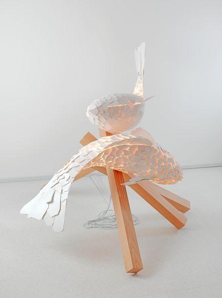 Frank Gehry Lamps Light Up Gagosian Rome   Fish lamp, Frank