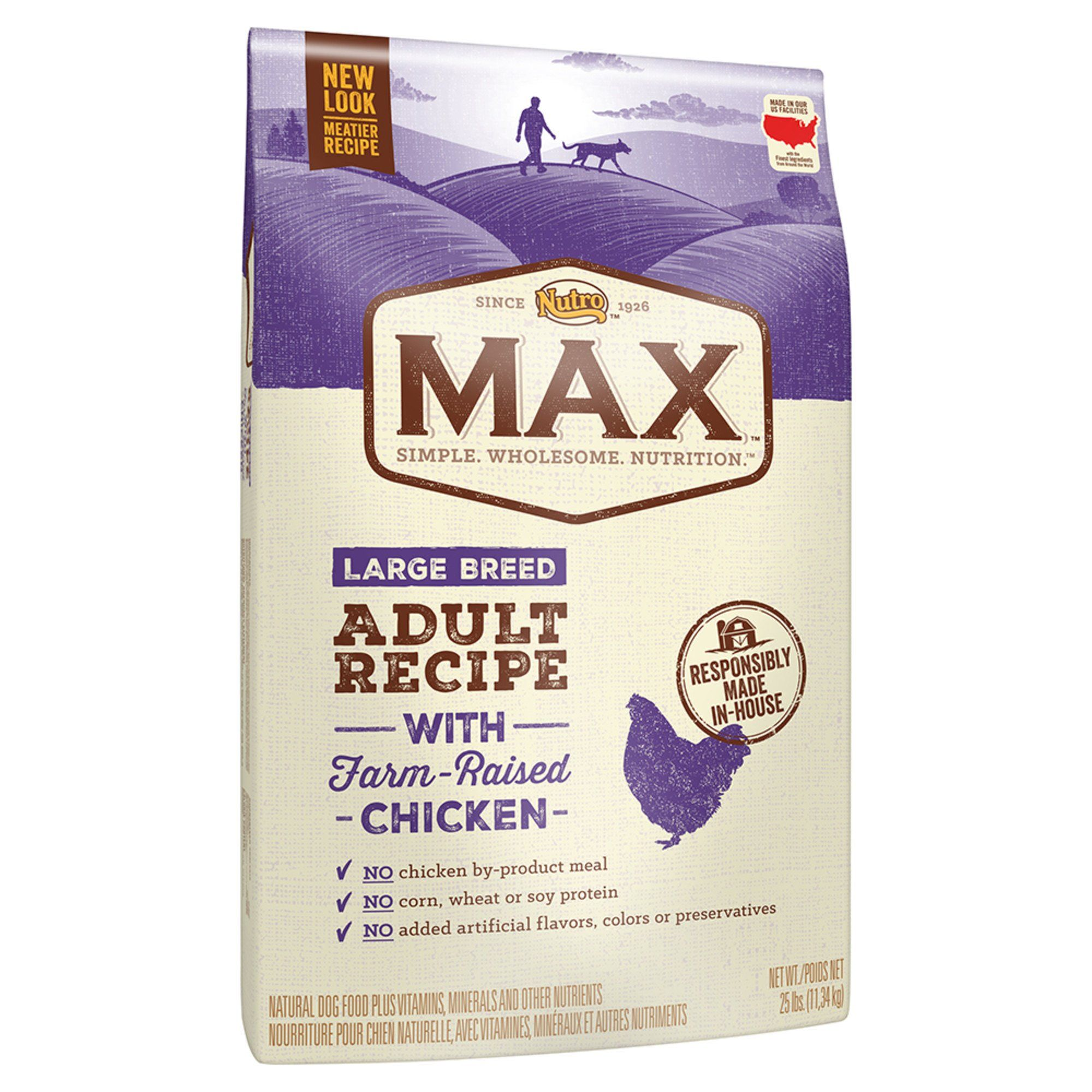 Nutro Max Recipe With Farm Raised Chicken Large Breed Adult Dry