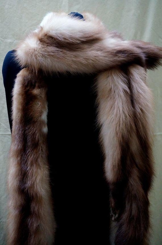 ART DECO authentic era FUR fox wrap full pelt by blingblingfling #vogueteam #fyrpelt #artdecofur #etsygifts