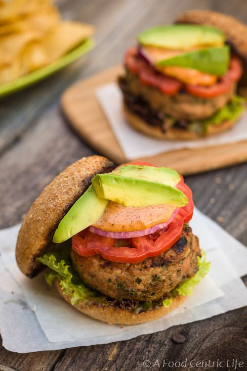 Spiced Turkey Burgers With Ancho Chili Sauce Recipe Spiced Turkey Burgers Turkey Burgers Turkey Spices