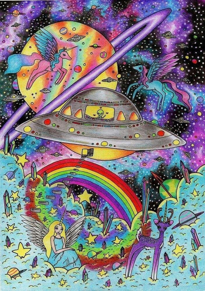 Alien Aesthetic Space Grunge Badass Art Trippy Vixen Aliens Background Kunst