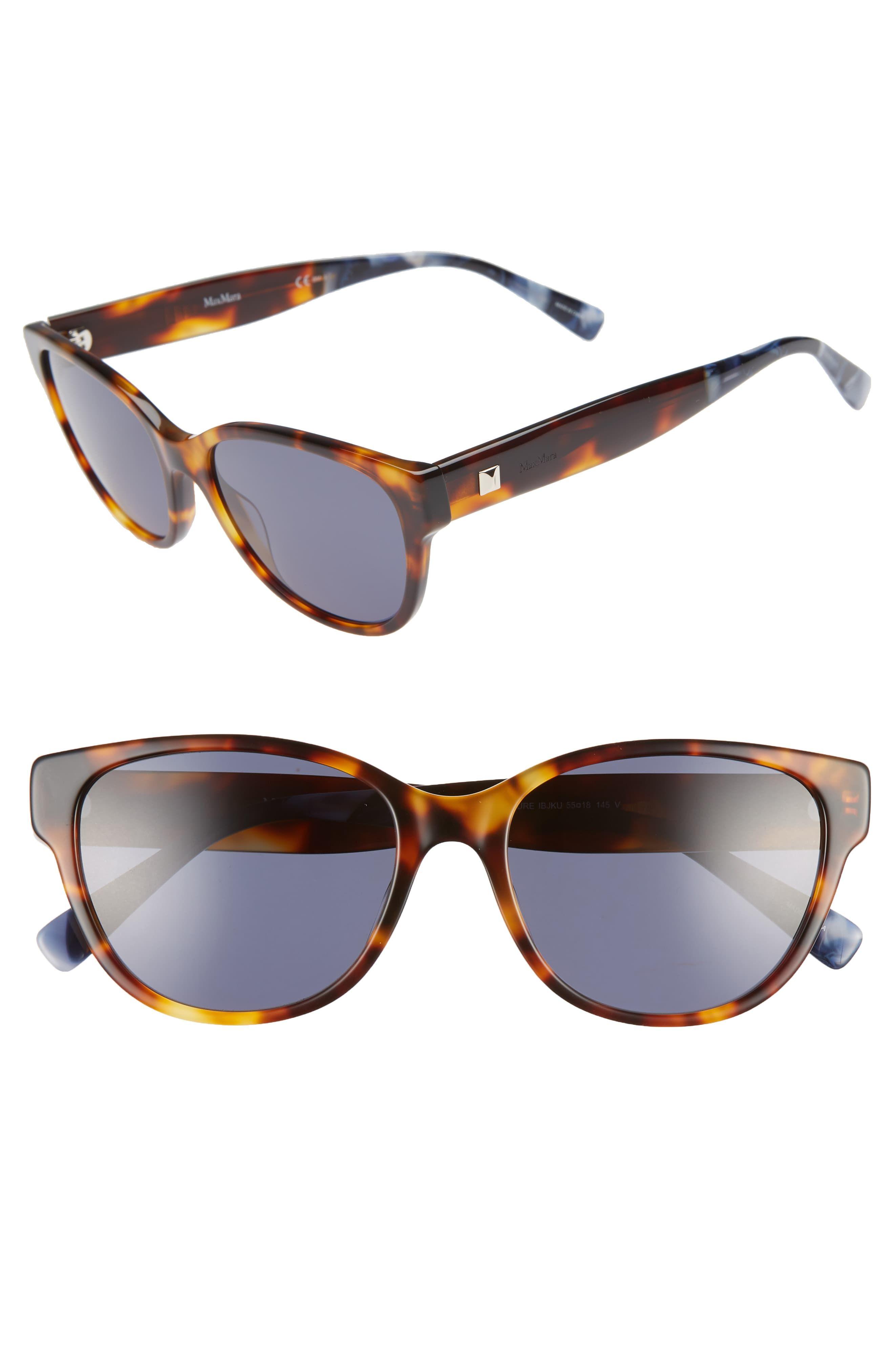 6e5f48b86480 Women's Max Mara Leisure 55Mm Cat Eye Sunglasses - Black in 2019 ...