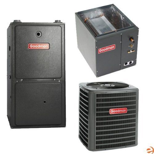 High Seer 95 Heat Pump Furnace Package 1 5 Ton By Goodman 2639 95 Goodman High Seer 95 Heating Systems Heat Pump Furnace Air Conditioner Accessories