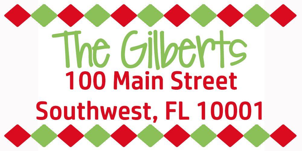 Christmas Themed Return Address Labels Holidays Pinterest