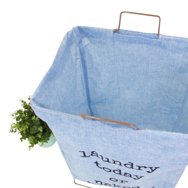 Wire Fold Laundry Hamper Light Blue with Letters | Laundry hamper ...