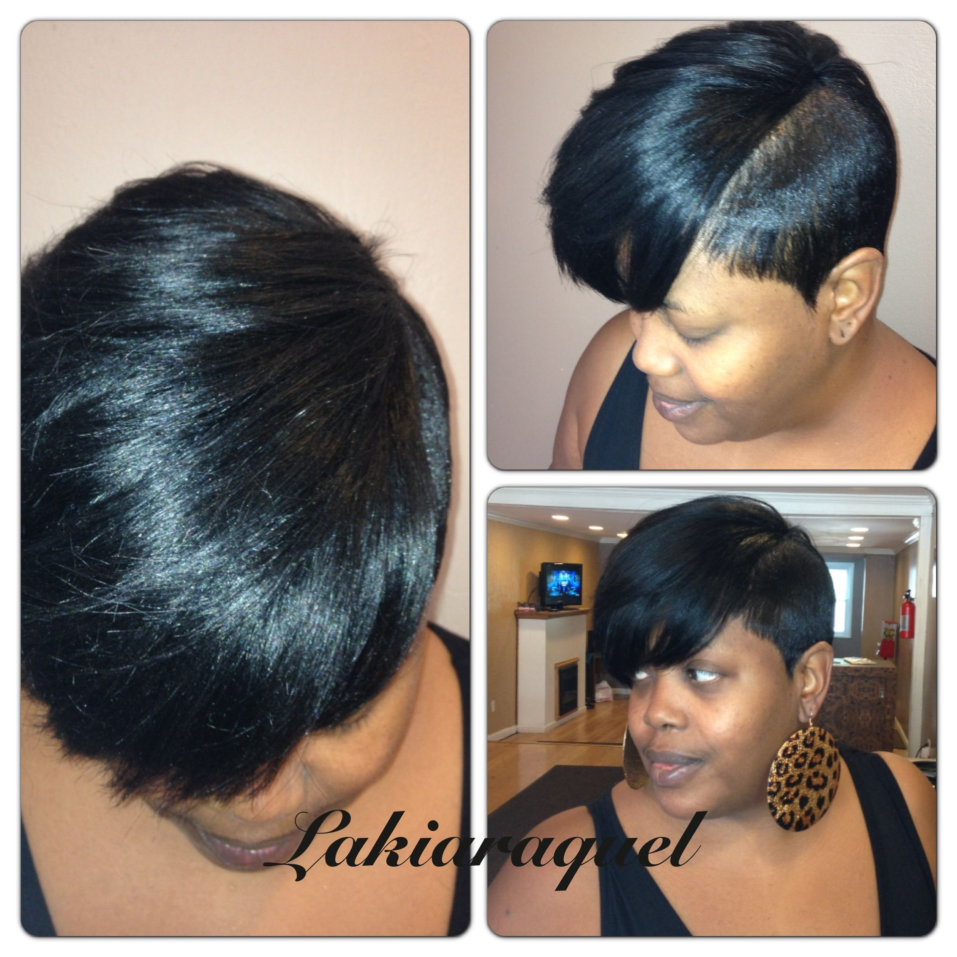 short partial quick weave | my work | short hair designs