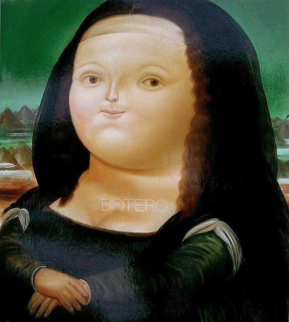 Botero Fernando 1932 Mona Lisa Colombian Art Mona Lisa Art Parody