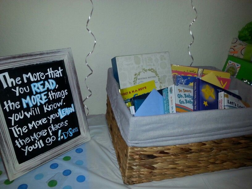 Fill the library baby shower