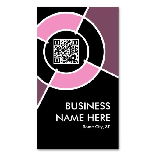 Pink qr code and logo target business card pinterest qr codes pink qr code and logo target business card colourmoves
