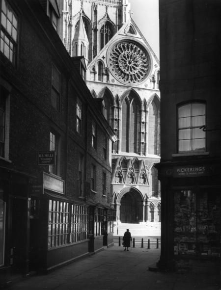 The south transept seen from a side street york minster 1960 by edwin smith