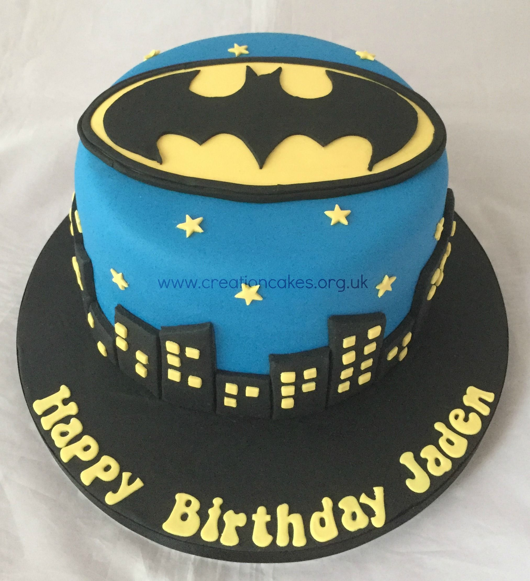 Batman Themed Birthday Cake