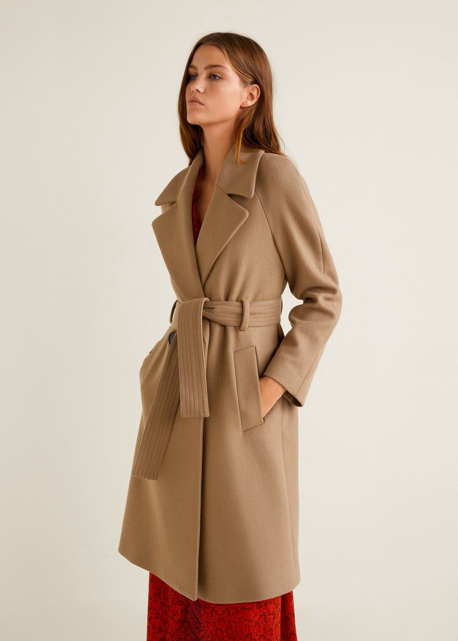 Mango Structured Wool Coat - L  1495a4917