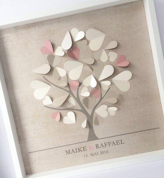Photo of Libro de visitas de bodas en 3D, libro de visitas, bodas, corazones, marcos, extraordinarios, regalos de boda …