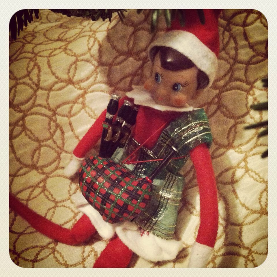 Norma & Bagpipes - Och Aye, Norma is spendin' they day serenadin' th' Celtic tree wi' 'er bags!