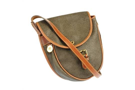b73064903d MULBERRY - a Branston Scotchgrain saddle bag. Featuring a textured exterior  and contrasting tan l