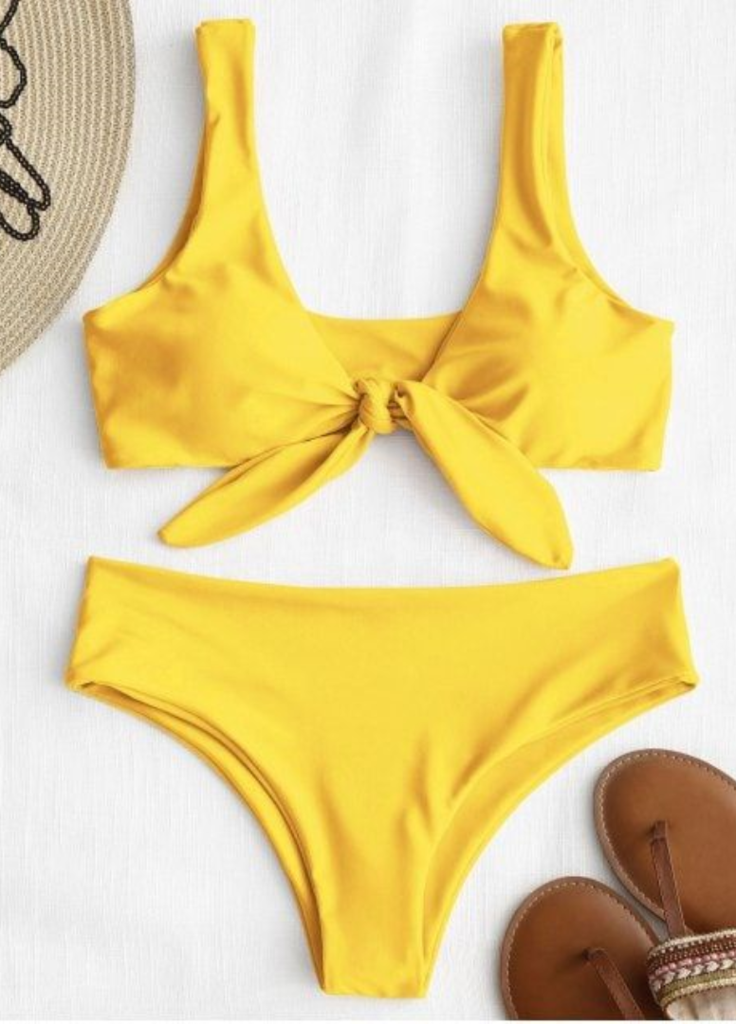 89bda863357 Yellow Knot Bikini Bathing Suit in 2019 | The New 2019 Hot Beach ...