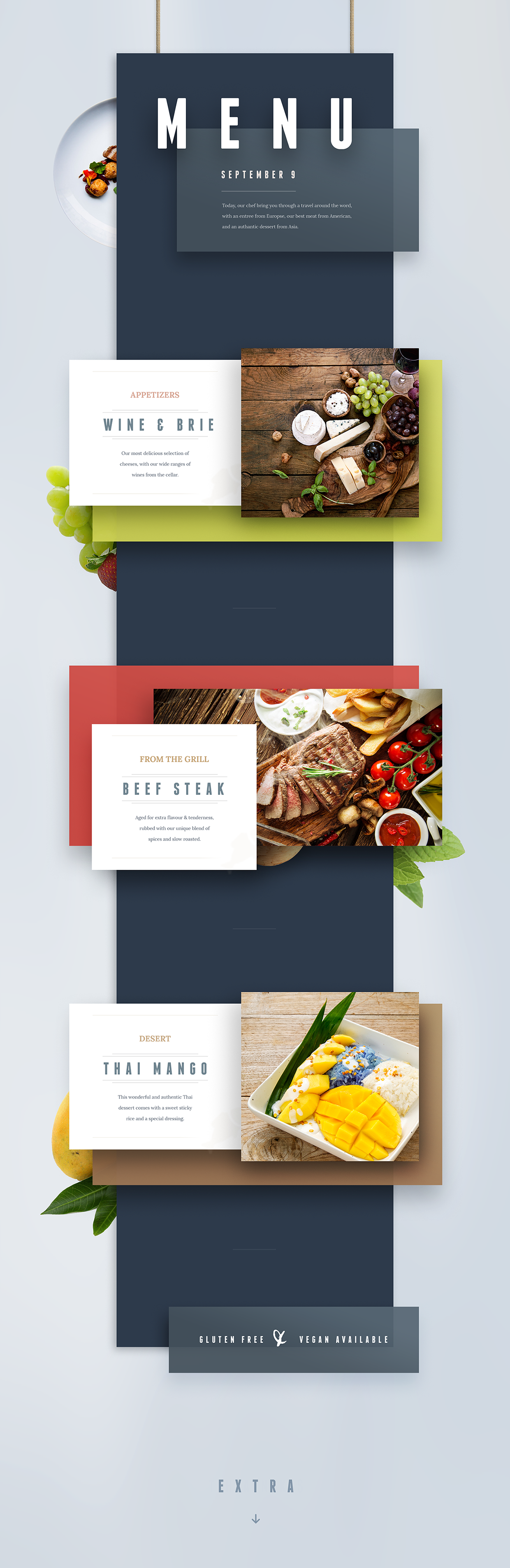 Menu from the world on Behance