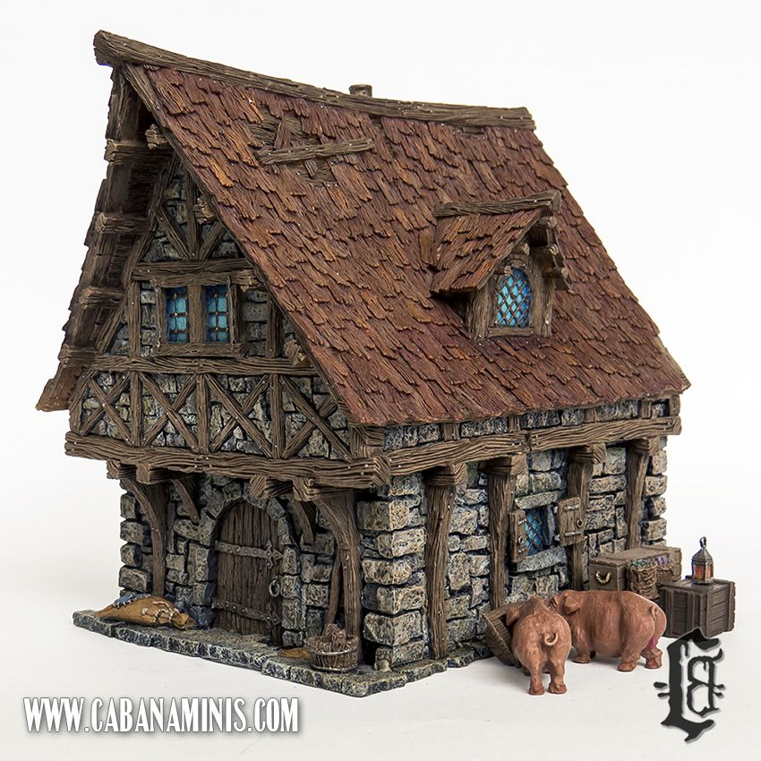 Tabletop world town house projects to try pinterest for 3d fachwerk