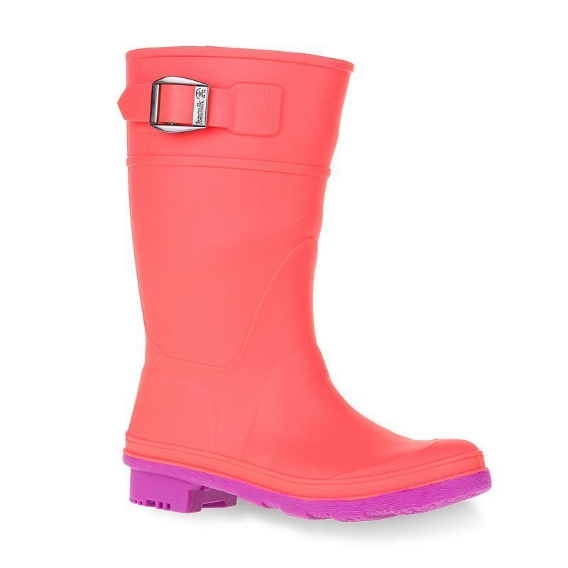 Kamik Raindrops Girls' Rain Boots, Size: 2, Turquoise/Blue (Turq ...