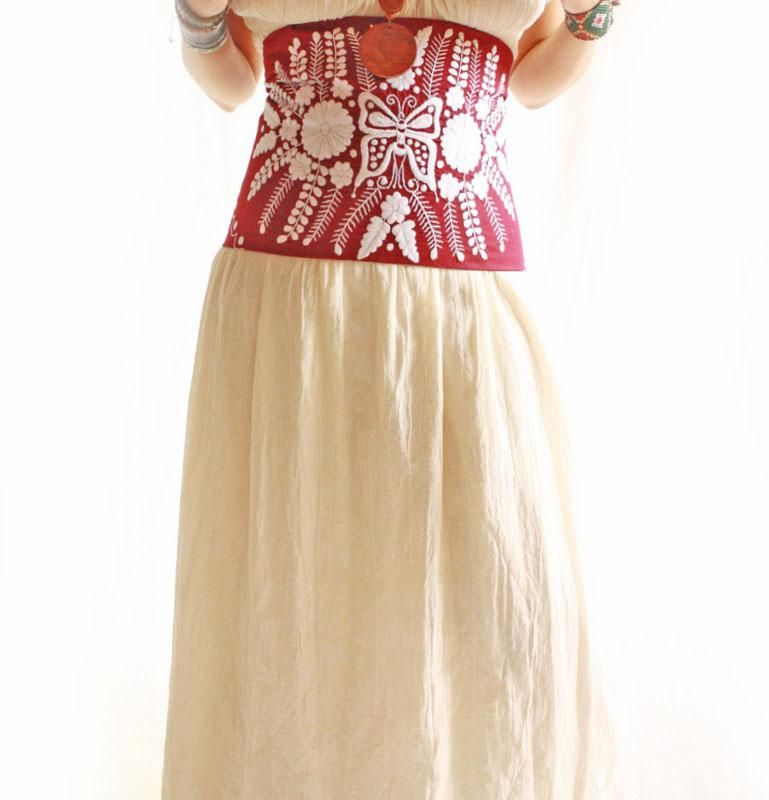 The Butterfly Romantic Mexico vintage crochet laces corset