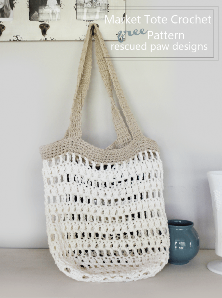 Market tote crochet pattern Rescued Paw Designs - Market Tote Bag Crochet Pattern