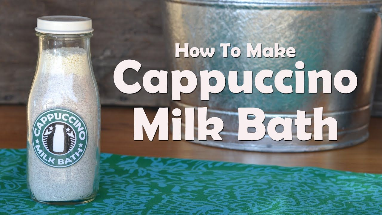 How to make cappuccino milk bath in 2020 how to make