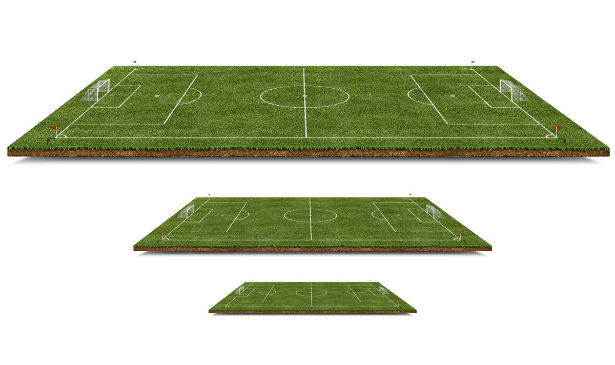 Download 3D Football Pitch Free PSD File. Grassy 3D