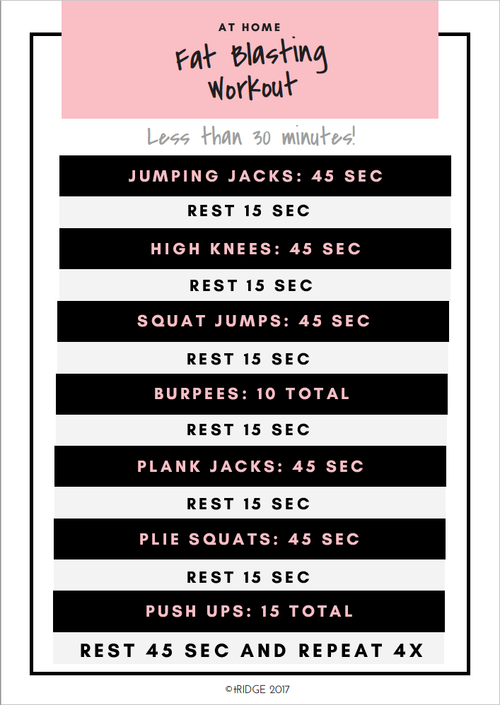 at home fat blasting hiit workout less than 30 minutes click to