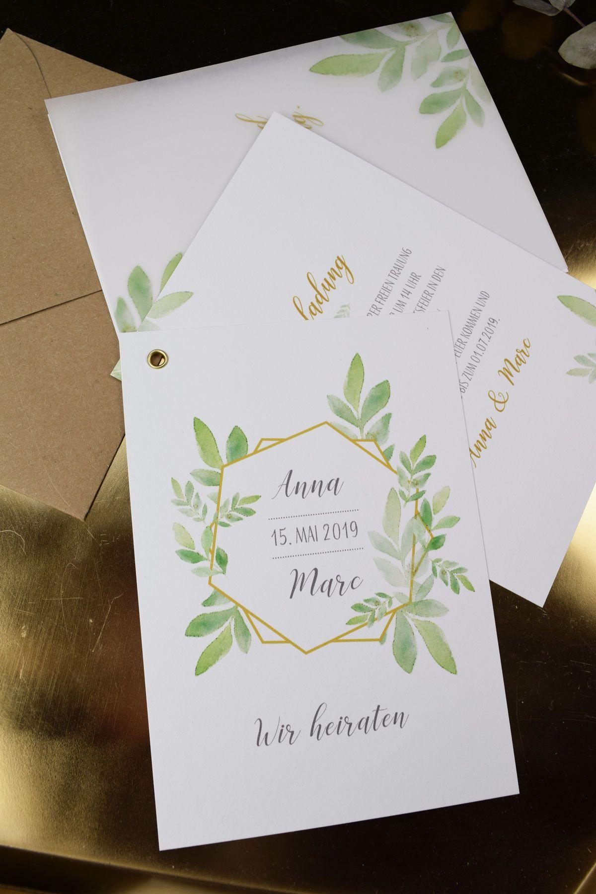 Hochzeitseinladung Boho Gold Einladung Zur Hochzeit Boho