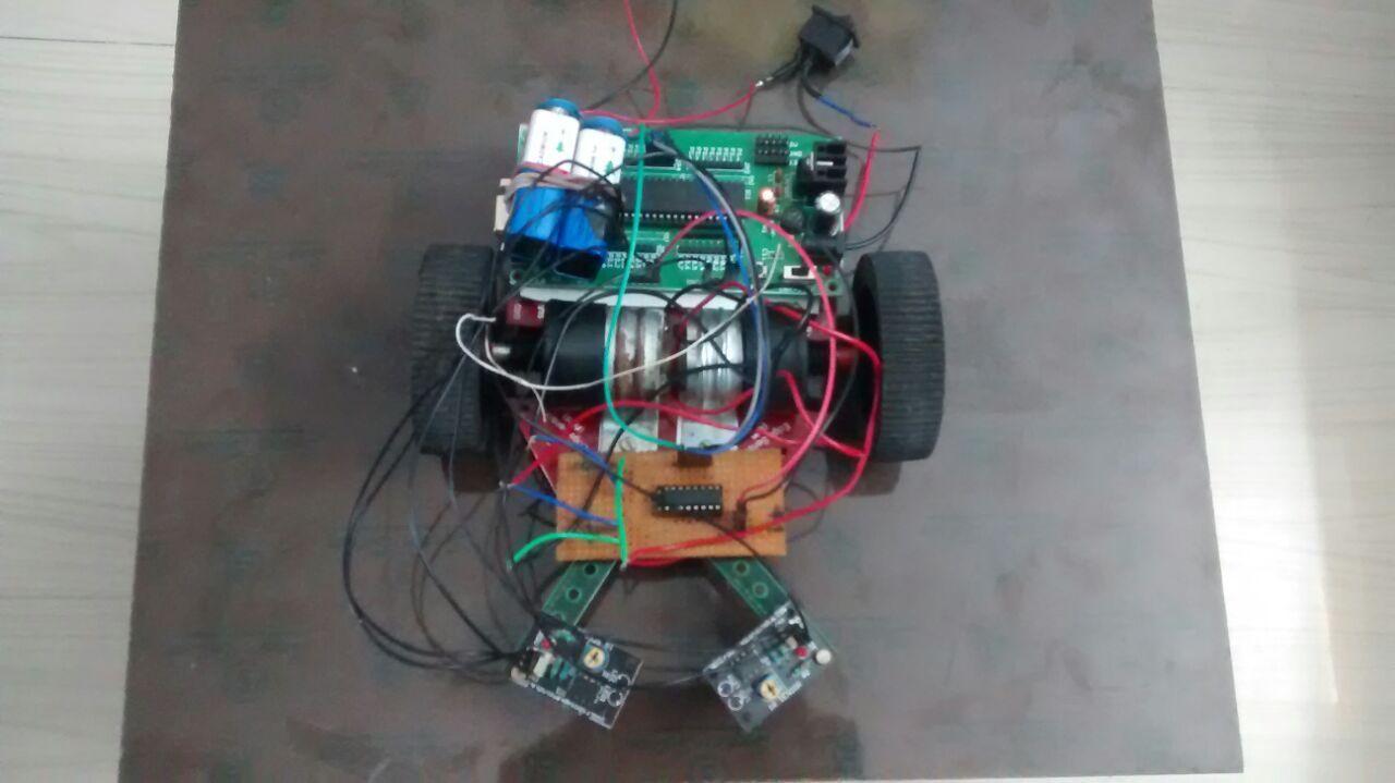 Line Follower Robot Lfr Using 8051 Microcontroller Pinterest Diagram Gadgetronicx Design