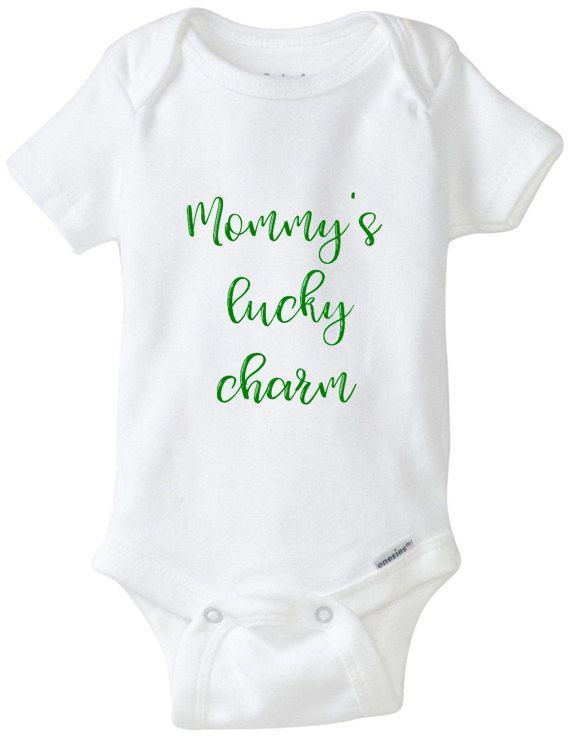Mummy/'s Little Lucky Charm Long Sleeve Baby Vests Bodysuits Unisex White